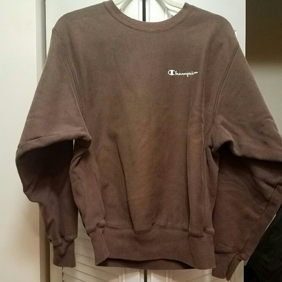 brown champion sweatshirt